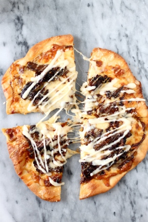 Short Rib Pizza with Smoked Gouda Cream Sauce