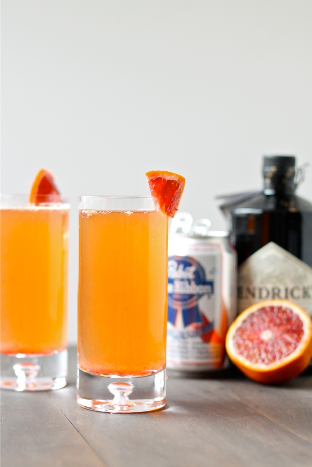 The Hipster Beermosa with Blood Orange Juice
